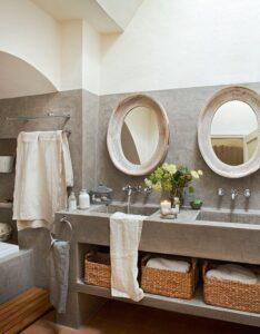 tendencia microcemento en baño