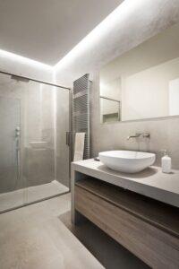 decoración microcemento baño